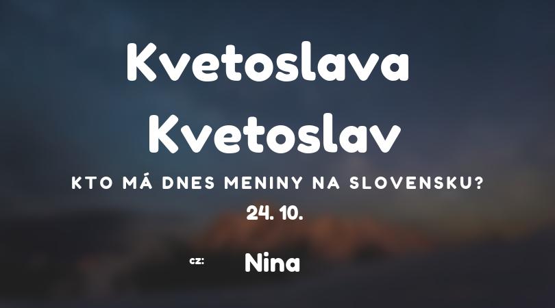10. má meniny na Slovensku Kvetoslava 5889cba0def